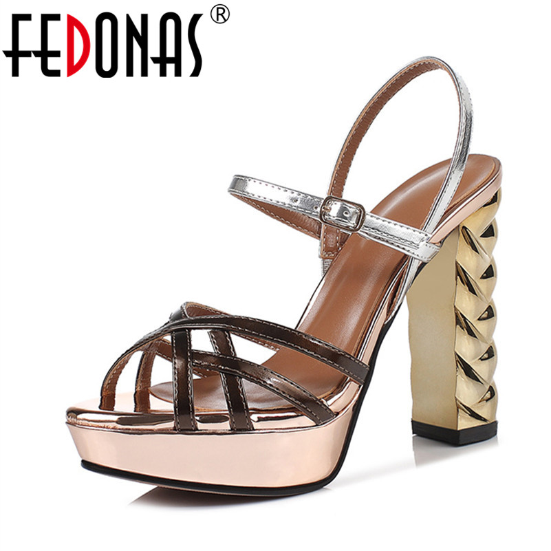 FEDONAS Fashion Sexy Women Sandals 2019 New Classic Design Concise Round Toe High Heels Party Shoes Basic Night Club Shoes WomanFEDONAS Fashion Sexy Women Sandals 2019 New Classic Design Concise Round Toe High Heels Party Shoes Basic Night Club Shoes Woman