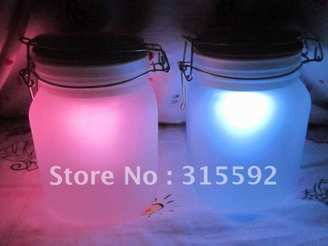 Free Shipping rechargeable led solar sun jar color changing solar sun tanks 2pcs/lot new novelty for gifts