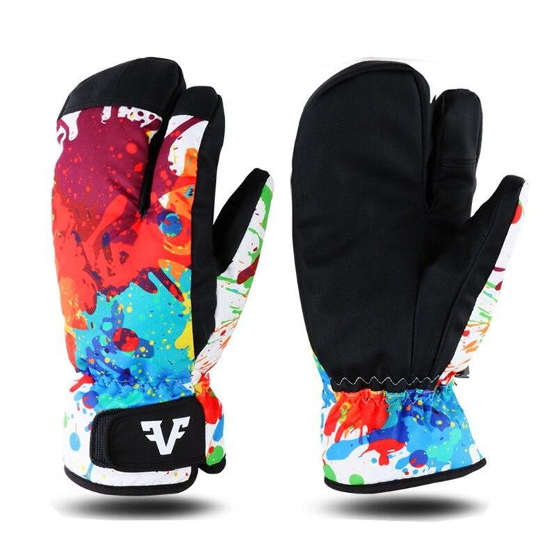 Waterproof Thermal Winter Ski Gloves 3 Finger Mittens Snowboard Snowmobile Motorcycle Outdoor Sports Gloves Women Children Kids