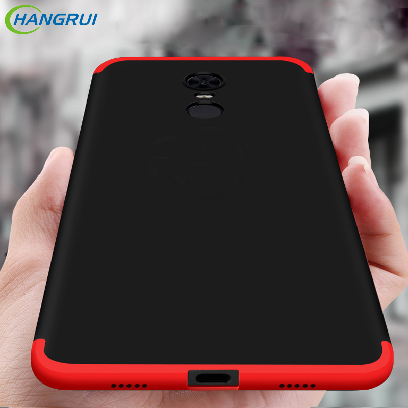 Hangrui For Xiaomi Redmi Note 5 5 Plus Case 360 Protect 3 in 1 Cover Hard Business Capa Case For Xiaomi  Redmi Note 5 Pro Mi A2