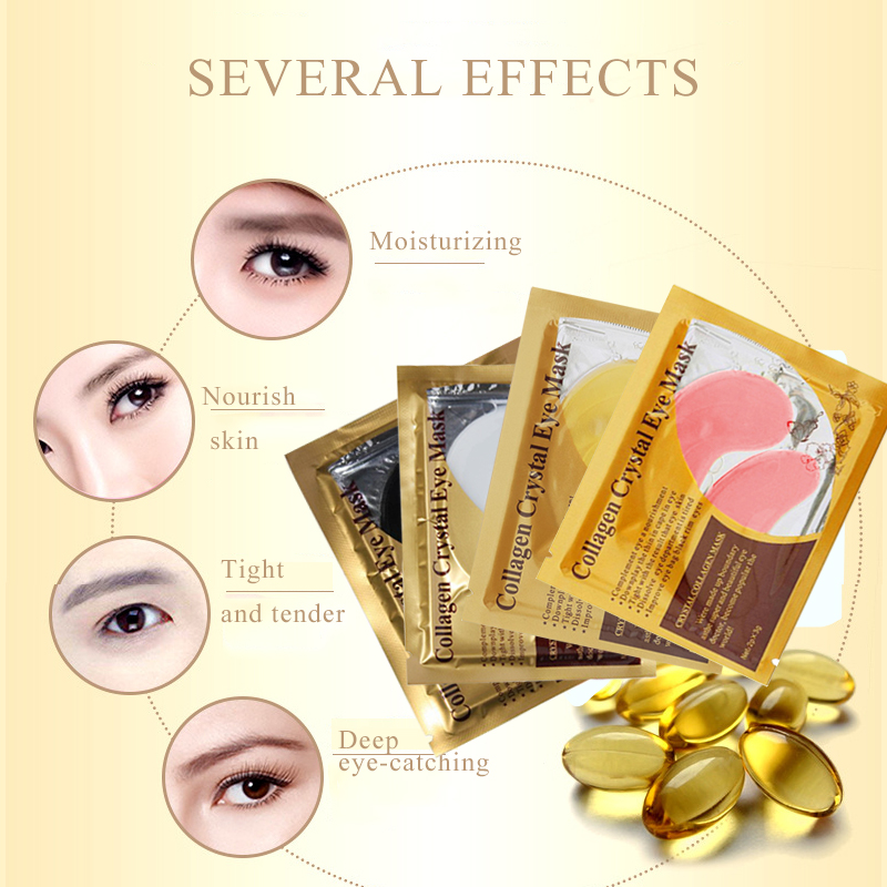 24K Gold Serum for Face Mask Eye Patches Under the Eyes Dark Circle Puffiness Anti-Aging Wrinkle Collagen Eye Mask Eye Pads 2