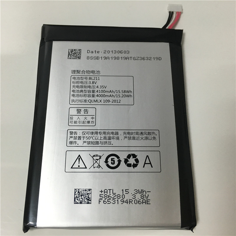 imágenes para 3.8 V 4000 mAh Batería BL211 Para Lenovo P780