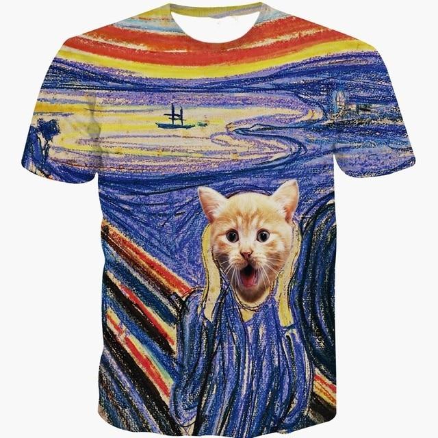 Mens Cat T Shirt
