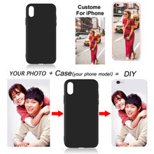 2018 Christmas gift DIY Photo Phone case Custom picture Cover For Apple iPhone X XR XS MAX 7 8 7plus 6 6S Plus 5 5S SE Coque(China)