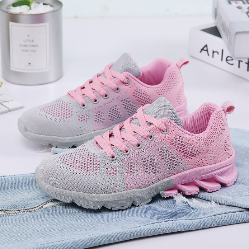 2018 Summer Fly weaving Women Flat sport Shoes for Woman Air Mesh Breathable running Shoeszapatillas deportivas mujer Sneakers