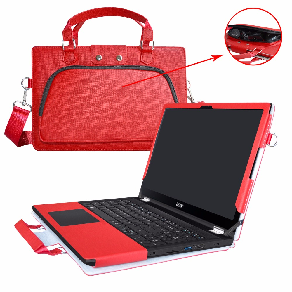 2 in 1 Accurately Designed Protective PU Leather Cover + Portable Carrying Bag For 15.6 Acer Spin 3 SP315-51 series Laptop roocase netbook carrying bag for acer cromia ac761 11 6 inch hd chromebook wi fi 3g deluxe series