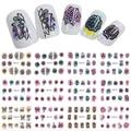 12 unids/set Mixta de Acuarela Conjuntos de Belleza Nail Art Sticker Transferencia de Agua Flores/Noctámbulo DIY Calcomanías BN433-444