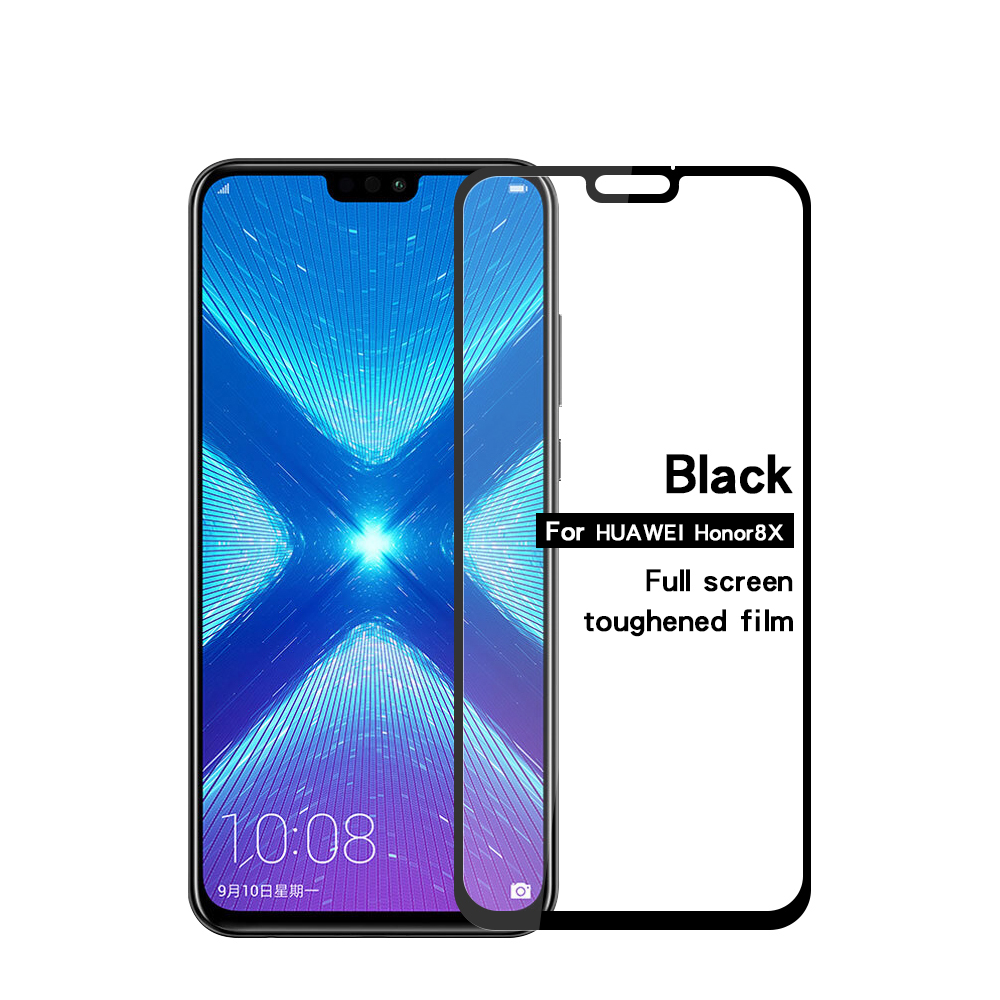 For Huawei Honor 8X Tempered Glass Full Cover Screen Protector for huawei honor 8x Glass Tempered Protective Film Cover Case in Phone Screen Protectors from Cellphones Telecommunications