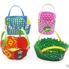 864e4ff94 Tejido a mano cesta EVA paño kit artesanía para niños DIY costura set Felt  Handwork Material