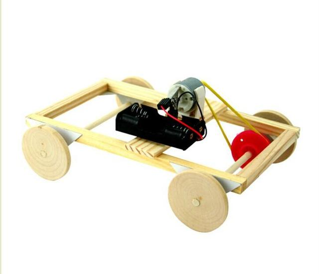 Technology Diy Handmade Electric Car Model Material With Small Dc Motor