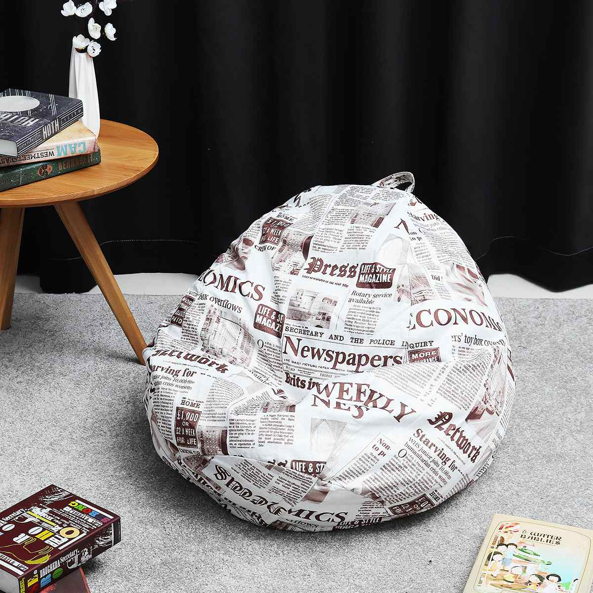 13 colors Lazy BeanBag Sofas Cover Chairs without Filler Linen Cloth Lounger Seat Bean Bag Pouf Puff Couch Tatami Living Room