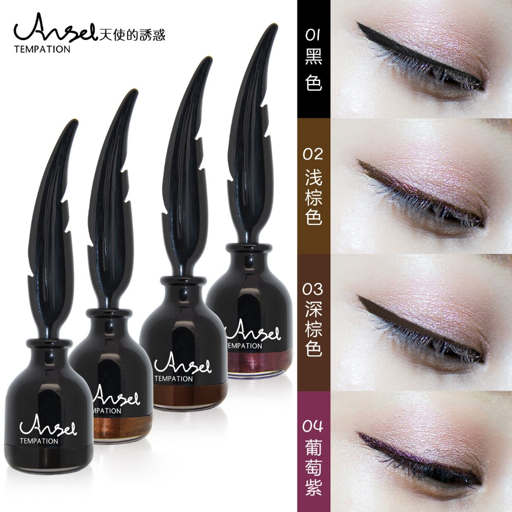 New Eyeliner Brand Cosmetics Long Lasting 4 Color Purple Brown Color Cushion Eye Liner Waterproof Makeup