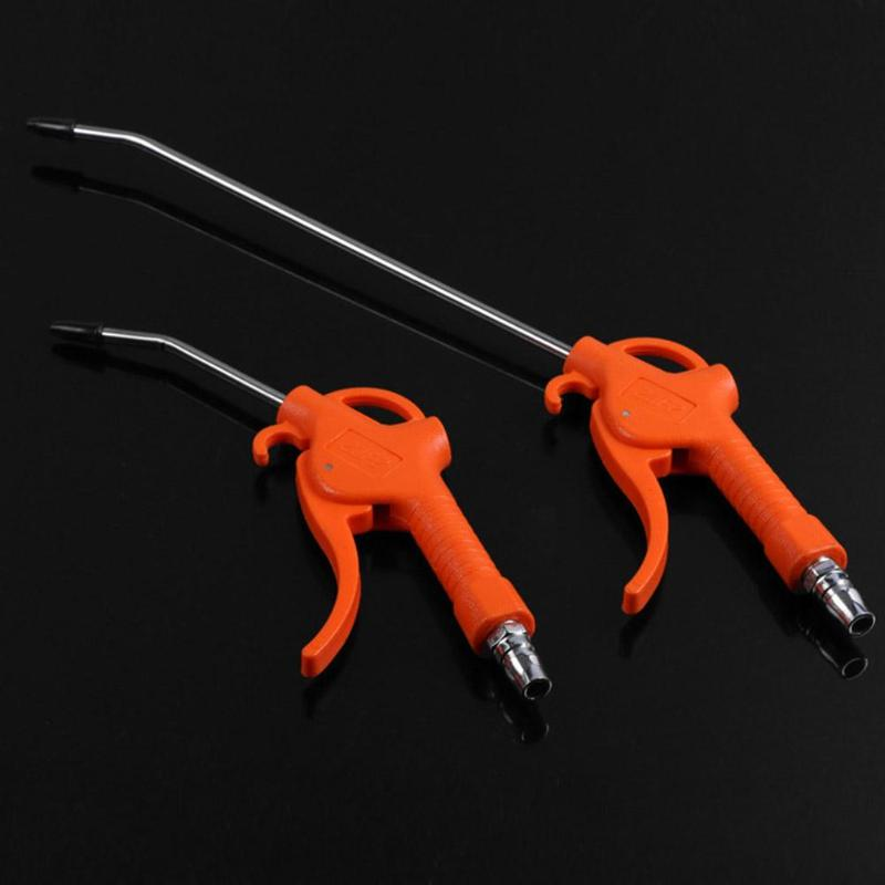 50MPa Air Blow Gun Orange Angled Nozzle Plastic Handle Air Duster Spray Blow Gun Dartsv