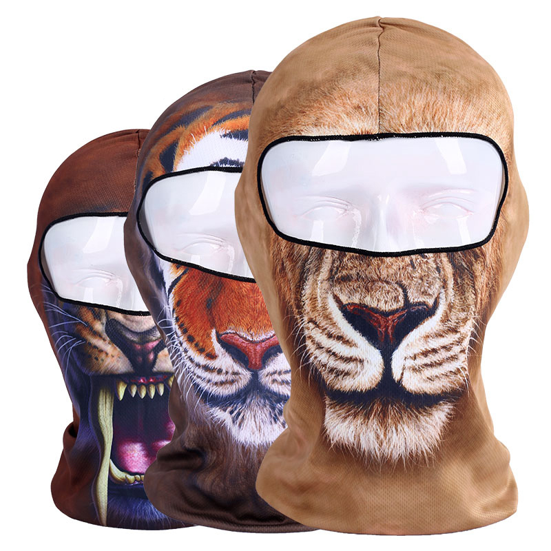 Animal printing Motorcycle Face Masks Bicycle Balaclava Scarf Head wear Outdoor Sports ski Windshield full face mask unisex winter warm fleece full face mask head cover neck warmer scarf hat ski cycling motorcycle balaclava caps outdoor sports