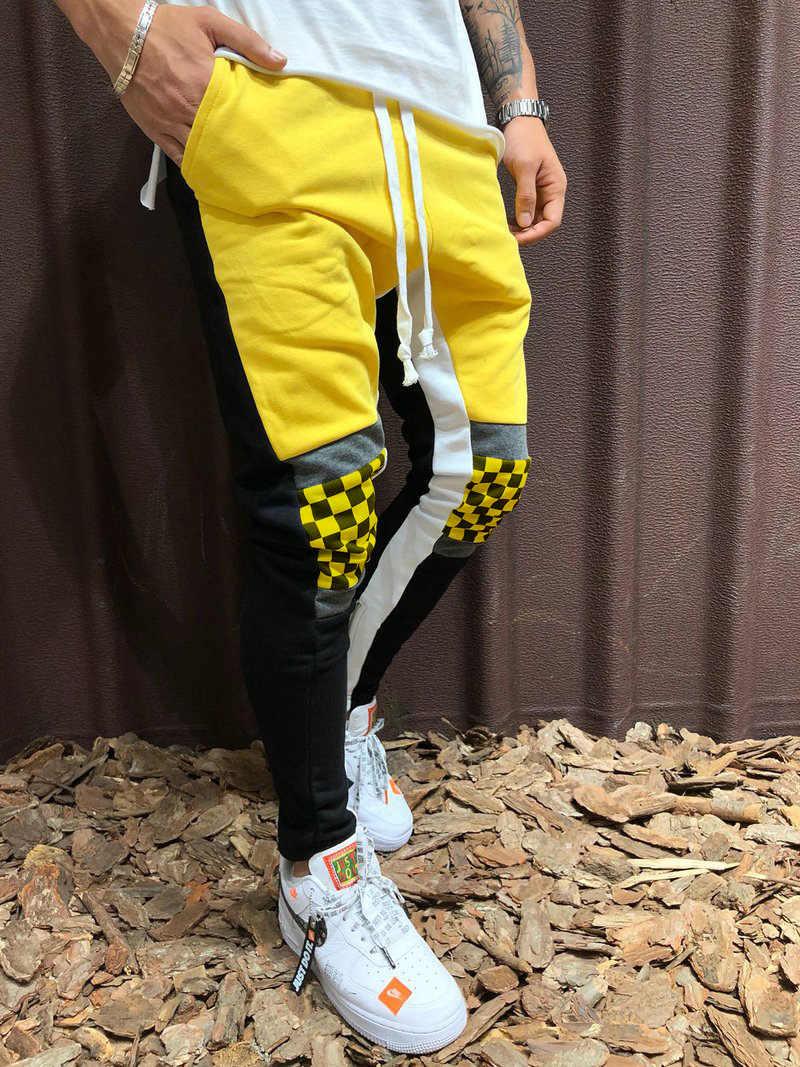 Sokak erkek Rahat Sweatpants Siyah ve Beyaz moda hip-hop Sweatpants koşu üniversite erkek pantolon 2019