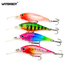 Купить с кэшбэком WATERBOY 7cm 8.5g Longbill Long Tongue 3D Crystal Minnow Fishing Lure Deep Wobbler Swimming Lifelike Colorful Artifical Bait