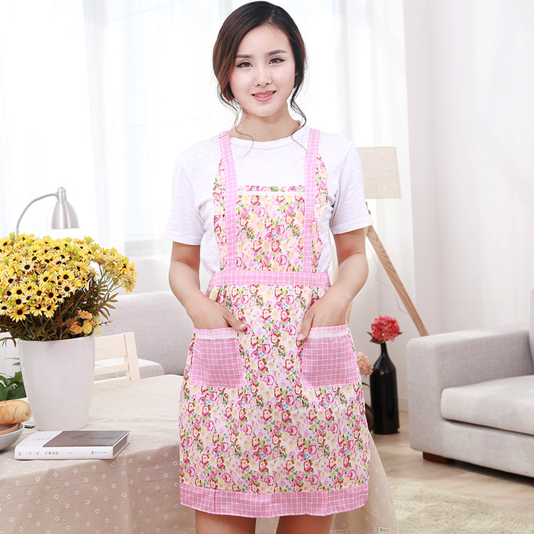 1pc Cooking Apron Kitchen Waterproof Oil Proof Outerwear Bibs With Large Pocket For Women Men Chef Fragrant Flavor In