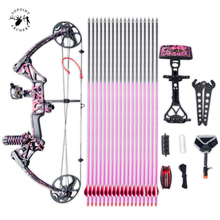 Ship From USA Warehouse Compound Bow Gift for Women, Package M1,19-30 inch Draw Length,10-50Lbs Draw Weight,LIMBS MADE IN USA for usa user