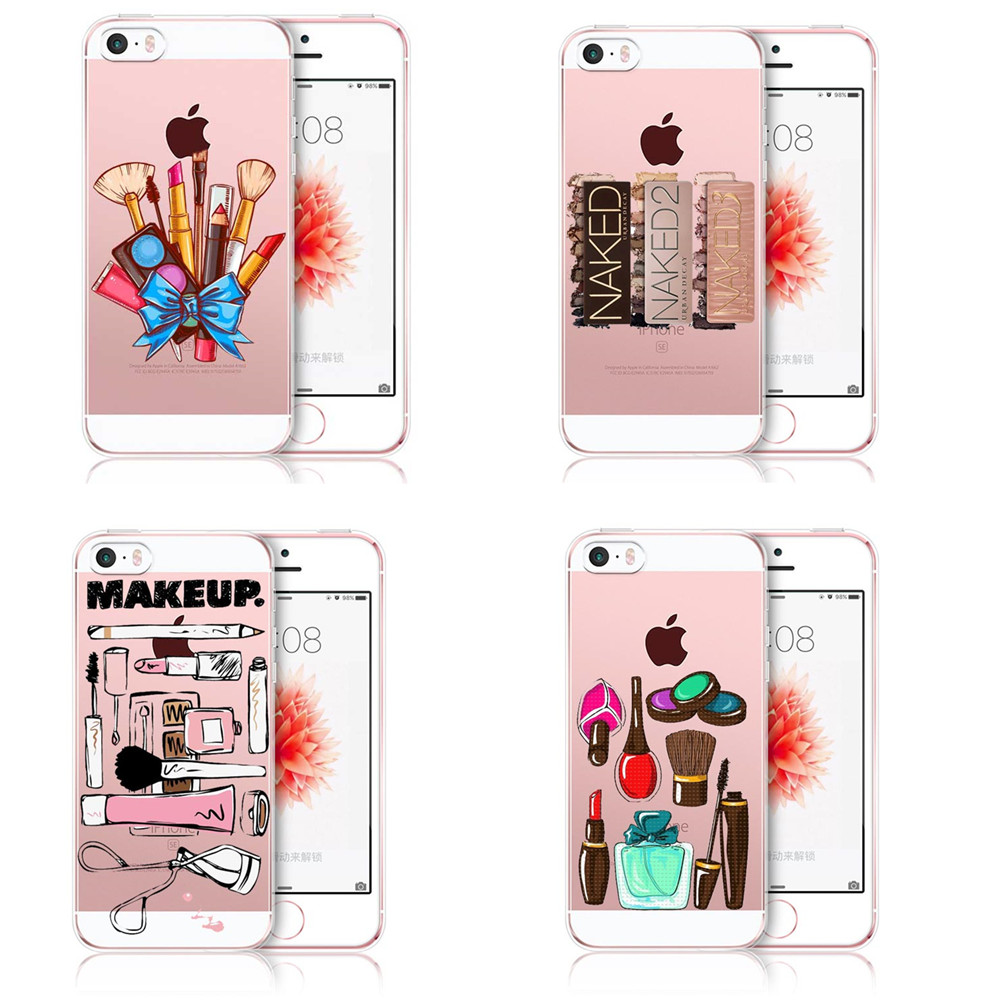 pretty nice 0eebf 1413c US $1.82 39% OFF|Girly MakeUp Big Eyes Sexy MakeUp Kylie Jenner Lips Soft  silicone TPU Phone Case Cover For iPhone 5 5S SE 6 6SPlus 7 8 Plus X-in ...