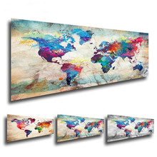 Fezrgea Full Drill Round Diamond Painting Landscape Diamond Embroidery Sale 5D DIY Mosaic Map Of The World Picture Of Rhinestone