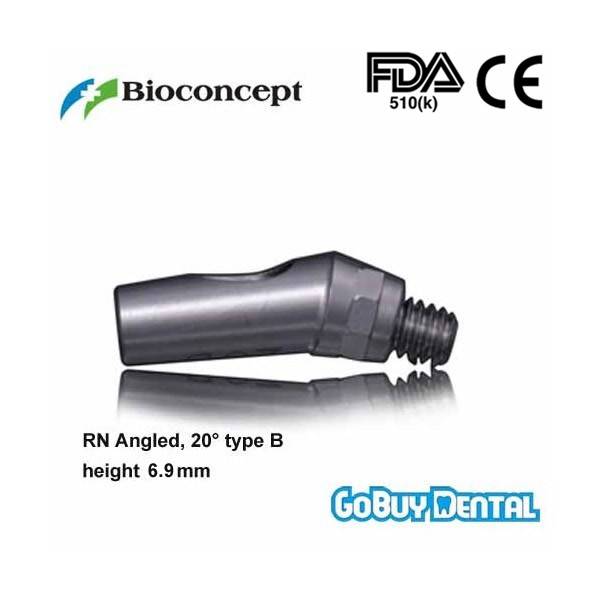 Straumann Compatible RN Angled Abutment, 20 type B, height 6.7mm, Long(Regular Neck)