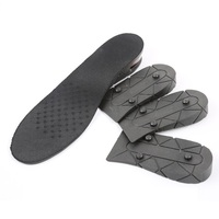 Men Air Cushion PU Adjustable Height Increase Elevator Insole Lift Inserts Shoes Pad 4 Layers Taller