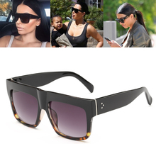 Luxury Brand Designer Kim Kardashian Fat Top Sunglasses Women Retro Shades Sun Glasses for Men Gafas Oculos De Sol Feminino M092