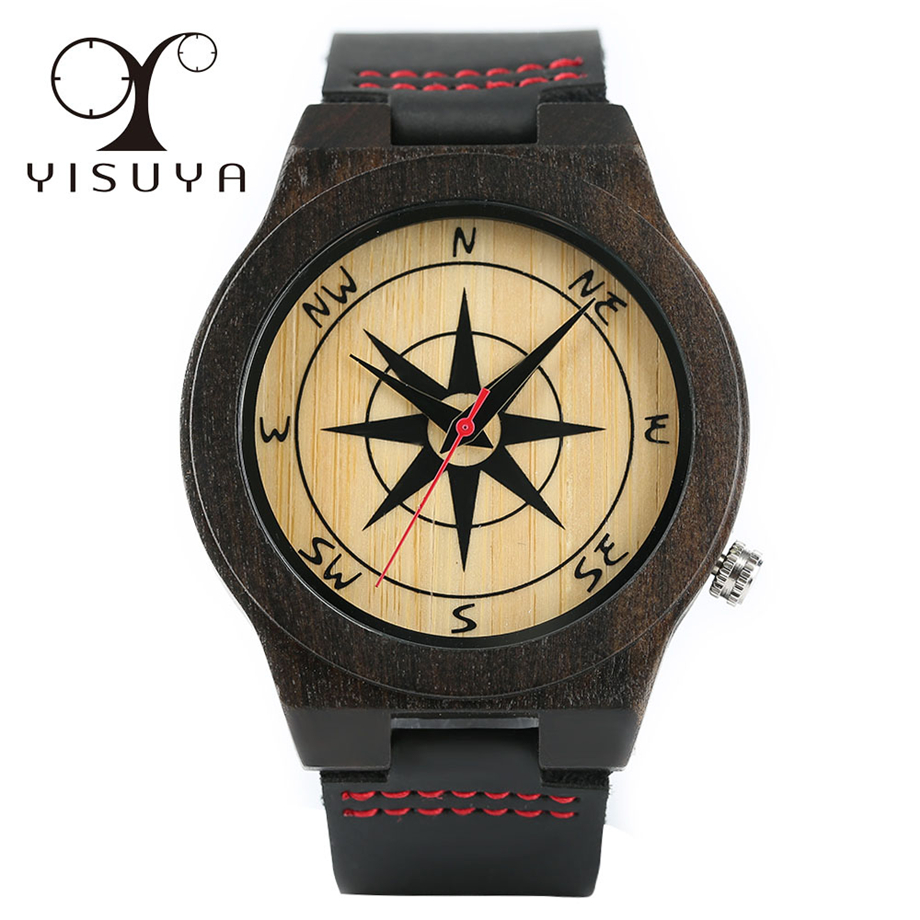 s red with genuine and products mens watch wood series bamboo rugged men leather quartz watches movement natural sandalwood man