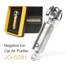 цена на 12V Car Electrical Ionic Air Purifier JO-6281 Car Air Freshener Remove Smoke And Clean Air Free Shipping