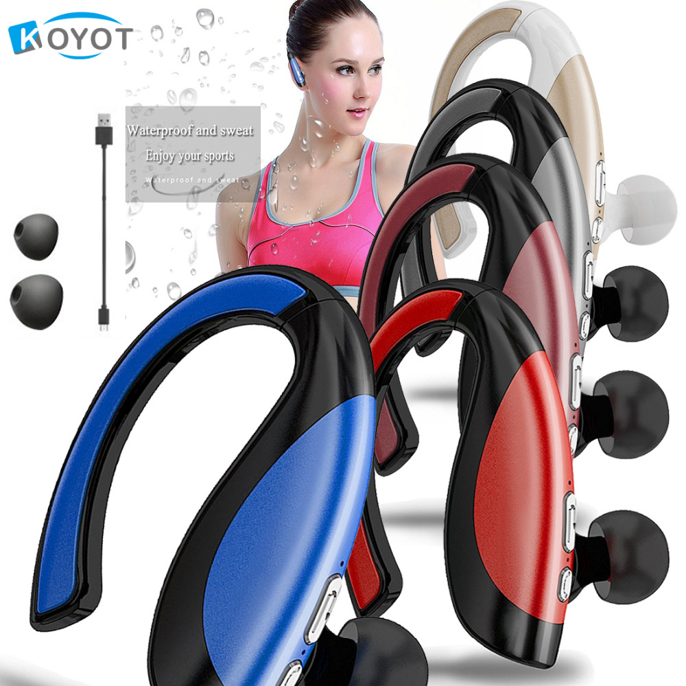 KOYOT Newest Bluetooth Headphones Stereo Sport Sweatproof Headsets Noise Cancelling Music Earphones Hands-free Mic for iphone 8 mpow bluetooth 4 1 headphones sweatproof sport earphones for running gym exercise with hands free calling for iphone samsung