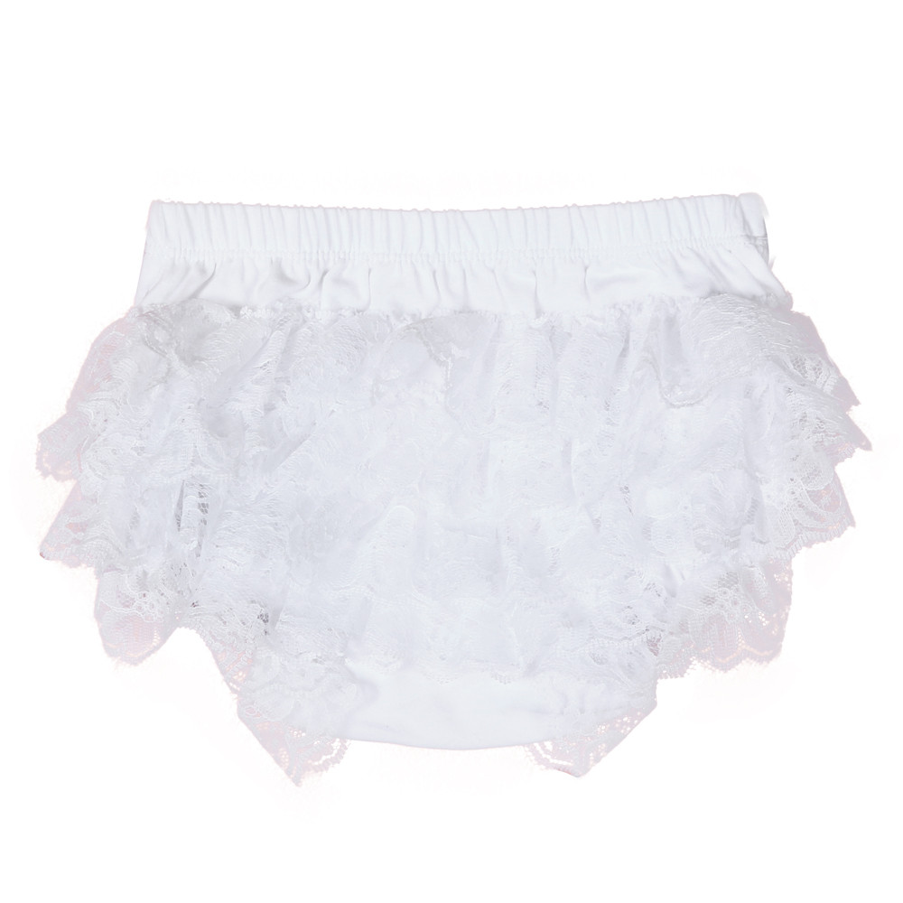 Toddler Baby Infant Girl Lace Ruffle Bloomer Nappy Underwear Panty Diaper Cover Beautiful and nice shorts guipure lace panel shorts