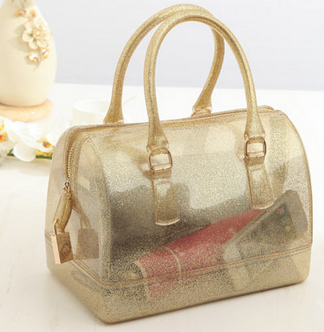 2015 Italian fashion brand design candy bags jelly bag Beach bags waterproof PVC rubber Silicone summer