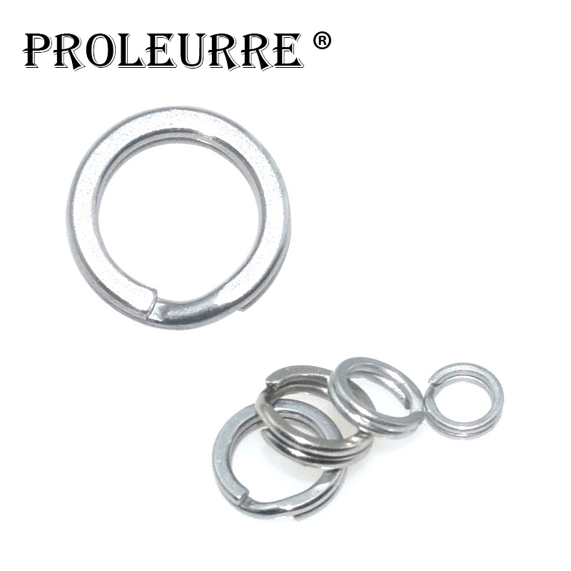 10 pcs/pack Stainless Steel Adapter Split Ring Fishing Tool Rod Clip Double Loop O-shaped Ring For Ocean Fishing