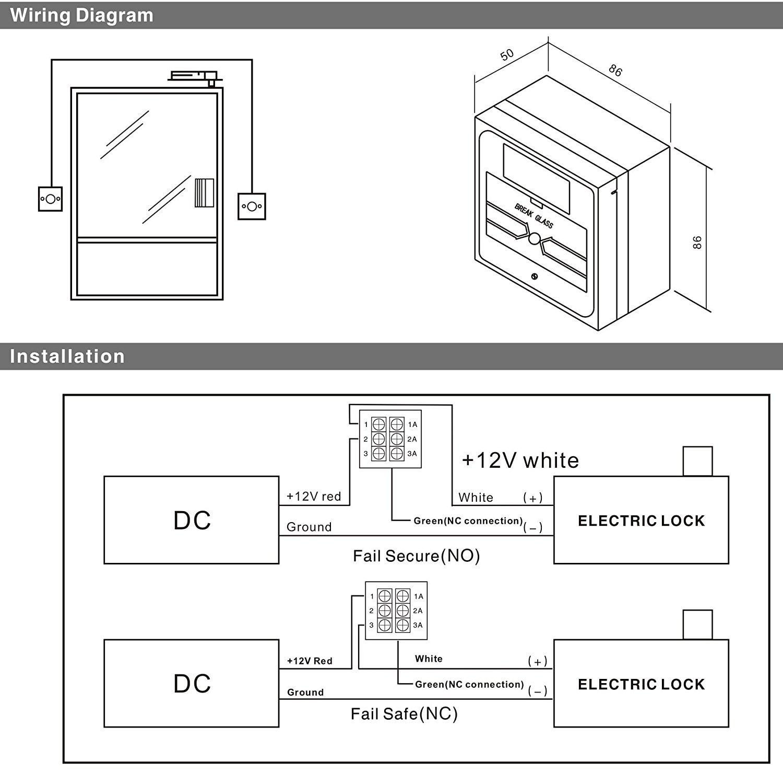 Emergency Door Release Wired Security Button Hands Break Glass For