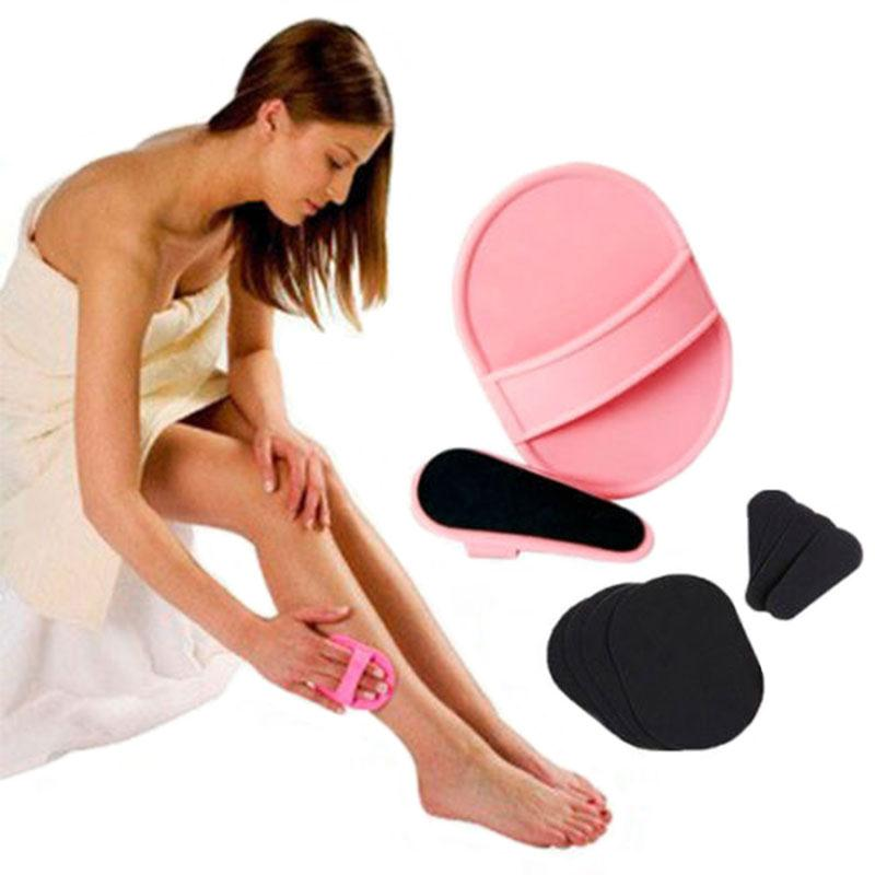1Set Pro Smooth Legs Pads Face Hair Removal Remover Exfoliator Useful Hotting