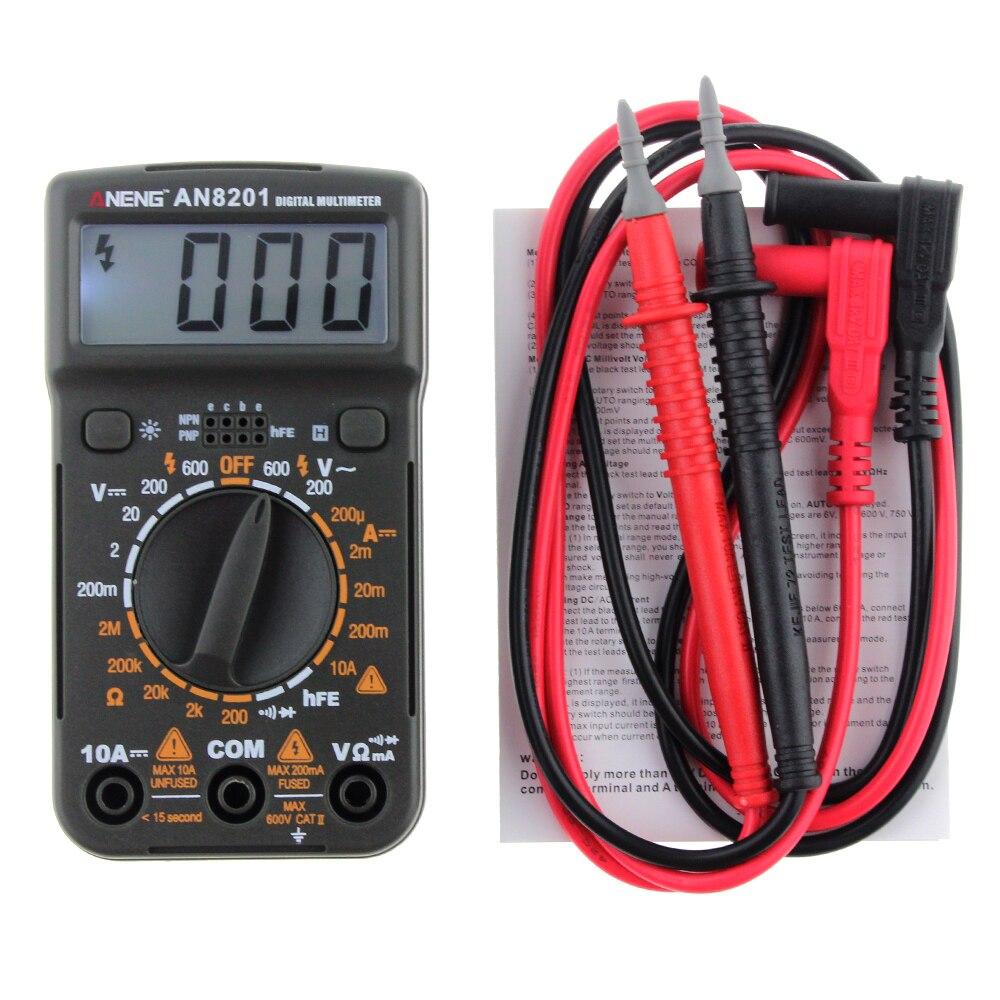 Neue Mini Digital-Multimeter Hintergrundbeleuchtung AC/DC Amperemeter Voltmeter Ohm Elektrische Tester Tragbare 1999 zählt Meter P25