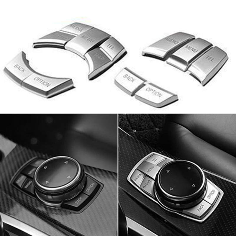 Car Interior Multimedia Buttons Cover Decoration Accessories For BMW F10 F20 F30 X3 X5 X7 Accessories Drop--Shipping