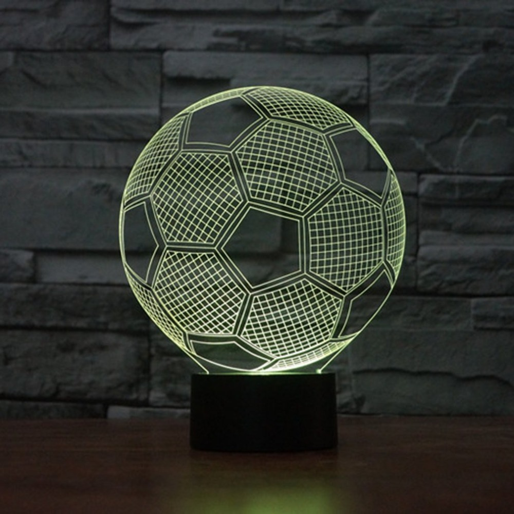 ICOCO 3D Soccer Touch Table Lamp 7 Colors Changing Desk Lamp 3D Night Lamp LED Night Light Football LED Light For Bedroom led night light 7 color changing touch switch bedroom bookcase beside lamp portable for bedroom living room or camping