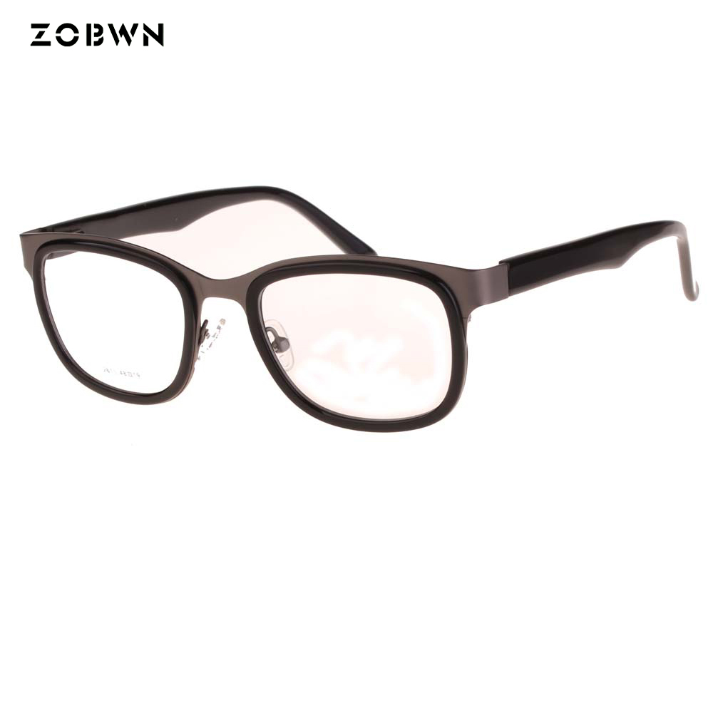 ZOBWN glasses samples sale Fashion metal temples Eyewear Brand Designer gafas Women Square Glasses Frames Retro Lady Eyeglasses