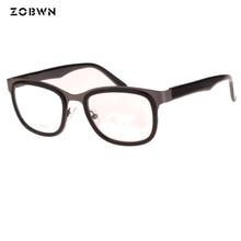 ZOBWN glasses samples sale Fashion metal temples Eyewear Brand Designer gafas Women Square Glasses Frames Retro Lady Eyeglasses