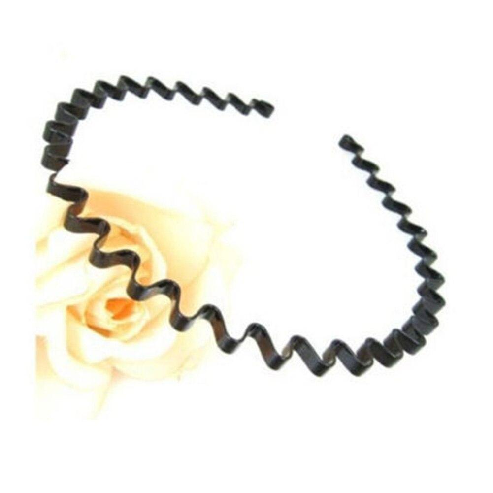①  1 шт. Мужские Женские Унисекс Черные Волнистые Обруч для Волос Спортивный ремешок для волос Hairband ①