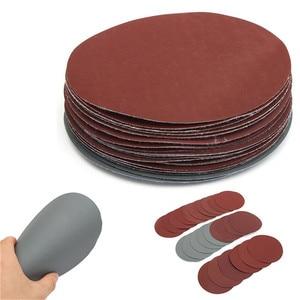 Image 3 - 25pcs/Set 6 Inch 150mm Round Sandpaper Disk Sand Sheets Grit 600 3000 Hook Loop Sanding Disc For Sander Grits Abrasive Tools
