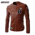 2017 New Fashion PU Leather Jacket Men Warm Windbreaker Mens Jackets And Coats Motorcycle Suede Jaqueta Masculina MXA0524