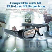 Elikliv AX 30 3D aktif deklanşör gözlük dlp link 96Hz/144Hz USB şarj edilebilir ev sineması siyah BenQ Dell Acer Optama Sony