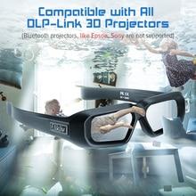 Elikliv AX 30 3D lunettes à obturateur actif dlp link 96Hz/144Hz USB Rechargeable Home cinéma noir pour BenQ Dell Acer Optama Sony