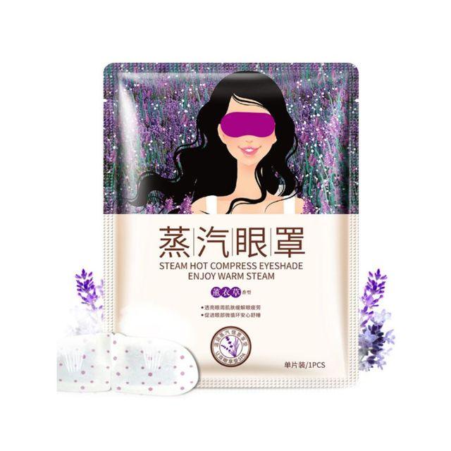 Máscara de ojos lavanda esencia alivio del estrés vapor cuidado de los ojos temperatura constante alivio de la fatiga desechable círculo oscuro máscara de masaje