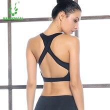 Sexy back sports underwear female summer thin Yoga Fitness sports bra free running vest gather