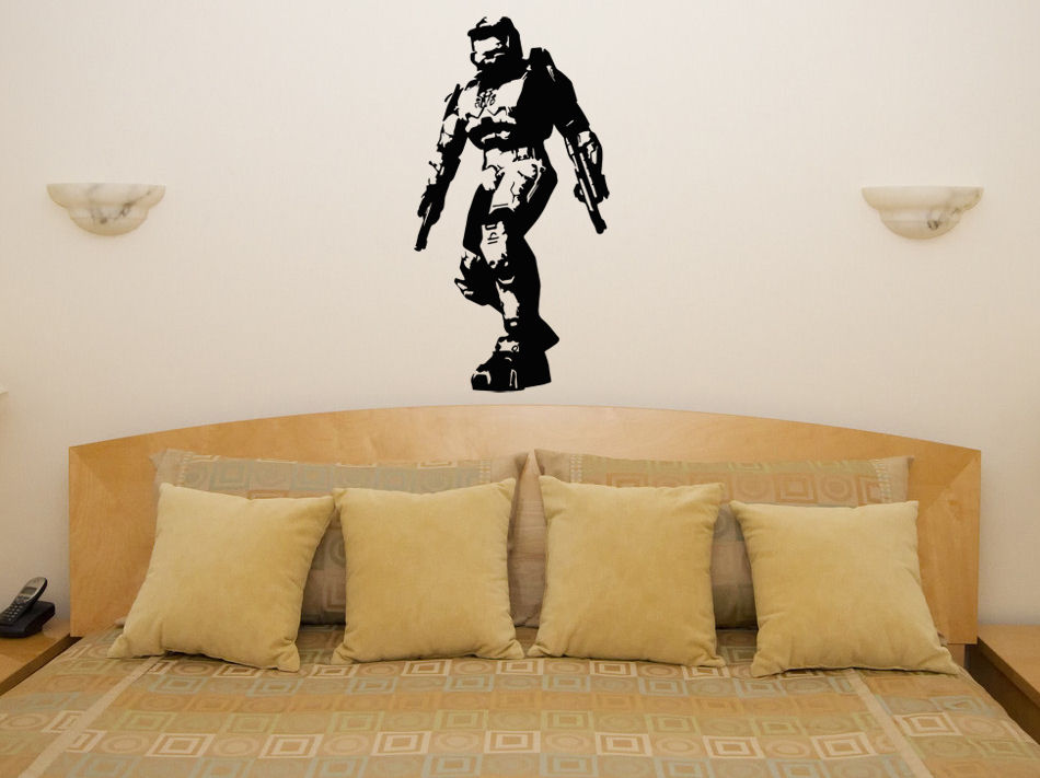 Halo Master Chief - Xbox PS Game Gaming Bedroom Decal Wall Art Sticker Picture os1719 free shipping image