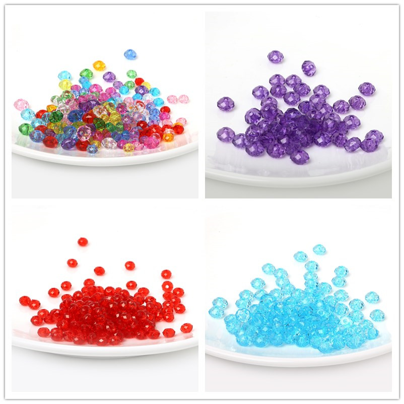 100 CRYSTAL GLASS /& WOOD ACRYLIC ROUND BEADS SPACER BEADS JEWELLERY MAKING