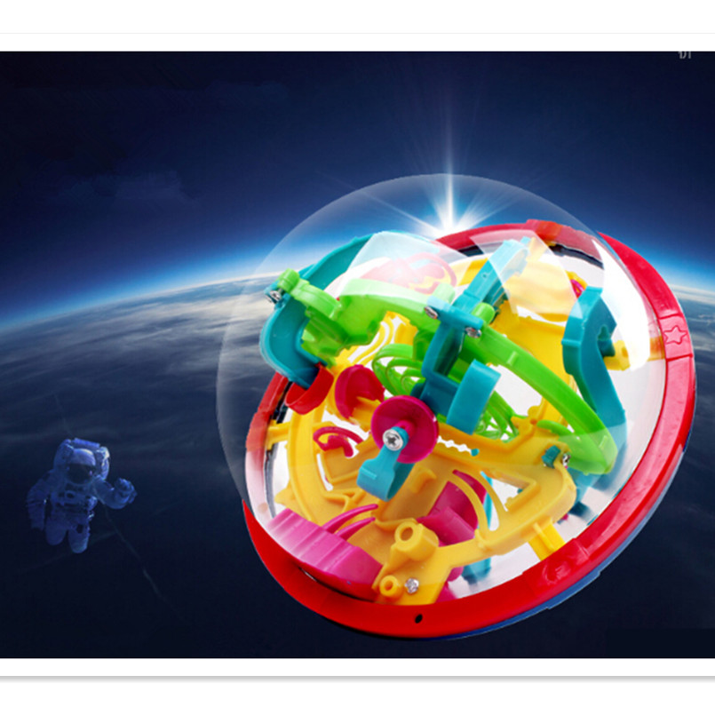 299 Steps Ball 3D Labyrinth Magic Intellect Ball Cubes,Marble Puzzle Brain Teaser Game Educational Toys for Kids 3d magical coin intellect maze ball kids amazing balance logic ability toys educational iq trainer game for kids chirstmas gifts